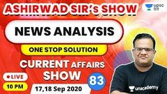 10 PM - Current Affairs Show | News Analysis With Ashirwad Sir | Current Affairs Today