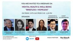 Briefless ≠ Hopeless Watch Justice Manmohan, Dr Arvinder Singh and lawyers discuss Mental Health