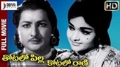 Thotalo Pilla Kotalo Rani Telugu Full HD Movie | Kantha Rao | Vanisri | Divya Media