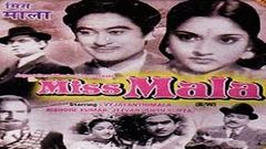 Miss Mala (1954) Hindi Full Movie | Kishore Kumar | Vyjayanthimala | Hindi Classic Movies