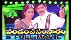 Pandanti Samsaram | 2001 Telugu HD Full Movie | Krishna | Ravali | ETV Cinema