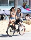 Jasmin Walia Riding Bikes on Venice Beach
