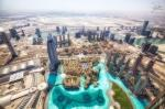 dubai from burj khalifa, united arab emirates