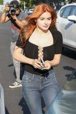 Ariel Winter with new hair color leaving Salon