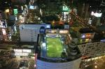 soccer field on top of building, tokyo